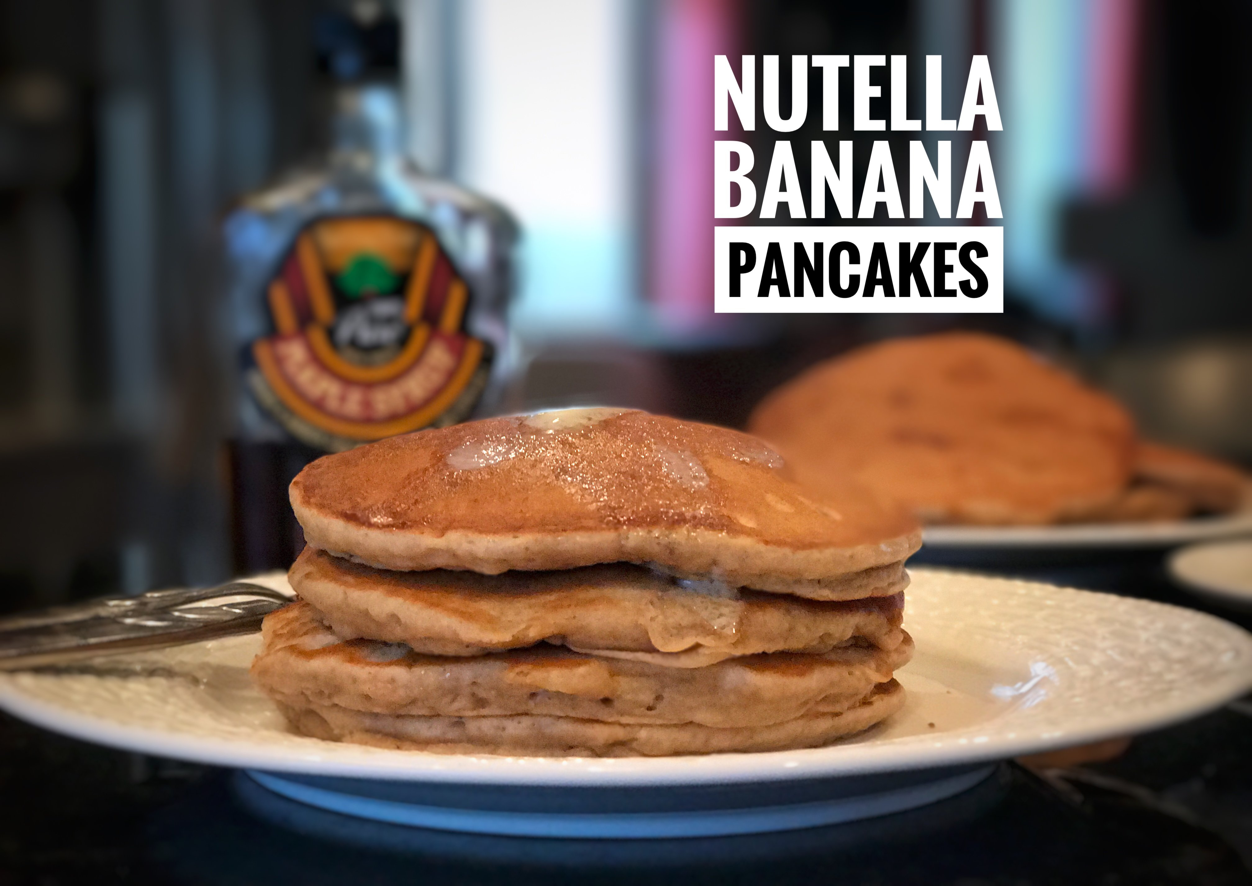 Nutella Banana Pancakes - Baker Becky