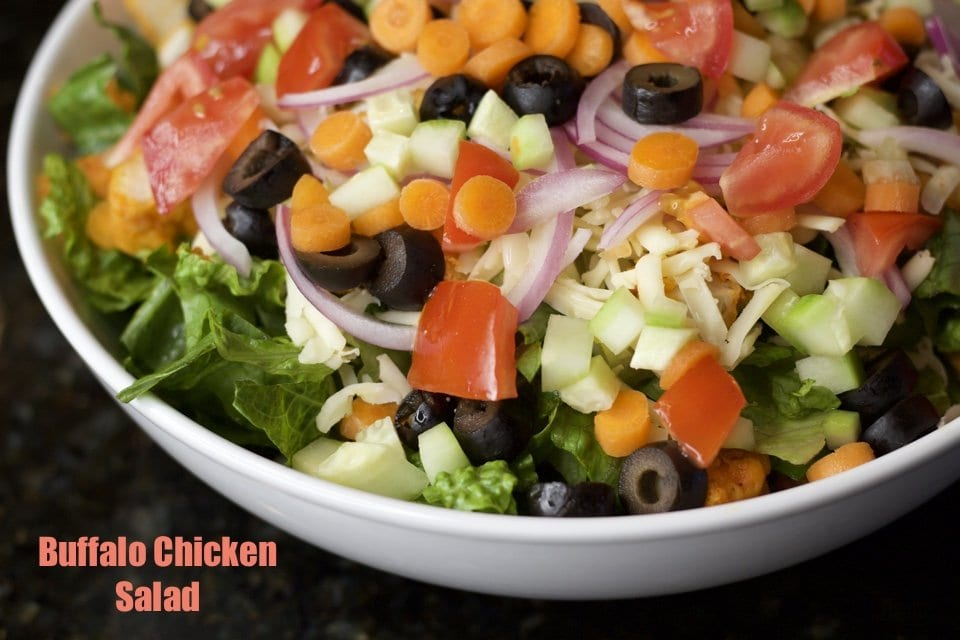 Quick and Easy Buffalo Chicken Salad